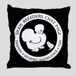 Silkie Breeder Throw Pillow