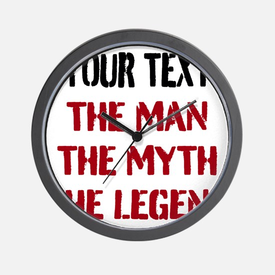 Man Myth Legend | Personalized Wall Clock