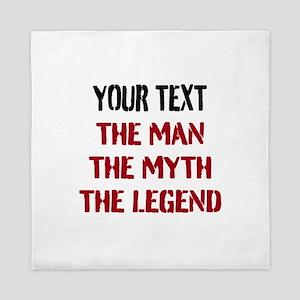 Man Myth Legend | Personalized Queen Duvet