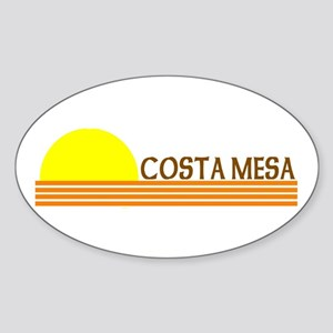 Costa Mesa, California Oval Sticker