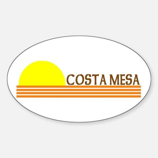 Costa Mesa, California Oval Decal