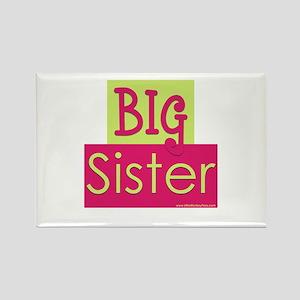 Big sister green/pink Rectangle Magnet