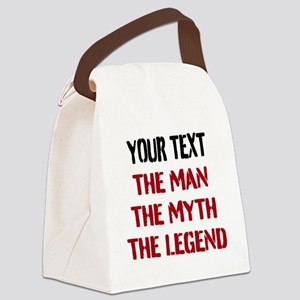Man Myth Legend | Personalized Canvas Lunch Bag