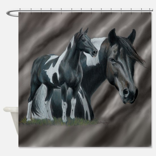 Pinto Horse Shower Curtain