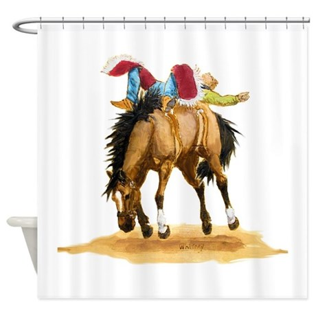 Bare Back Bronc Shower Curtain