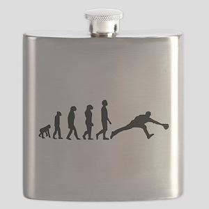 Baseball Fielder Evolution Flask