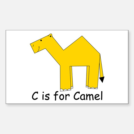 C is for Camel Rectangle Decal