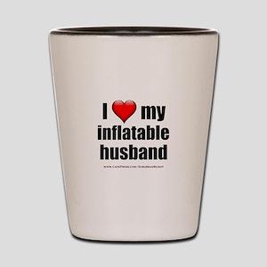 """Love My Inflatable Husband"" Shot Glass"
