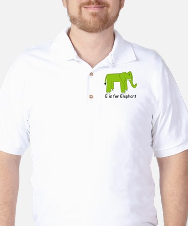 E is for Elephant Golf Shirt