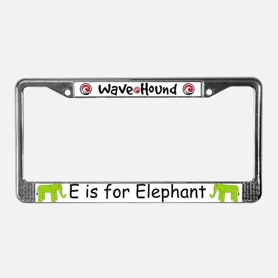 E is for Elephant License Plate Frame
