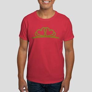 Golden Diadem Tiara Dark T-Shirt
