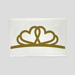 Golden Diadem Tiara Rectangle Magnet