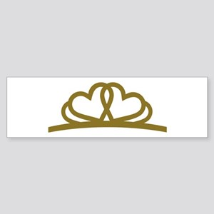 Golden Diadem Tiara Sticker (Bumper)