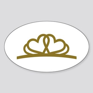 Golden Diadem Tiara Sticker (Oval)