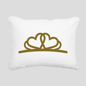 Golden Diadem Tiara Rectangular Canvas Pillow