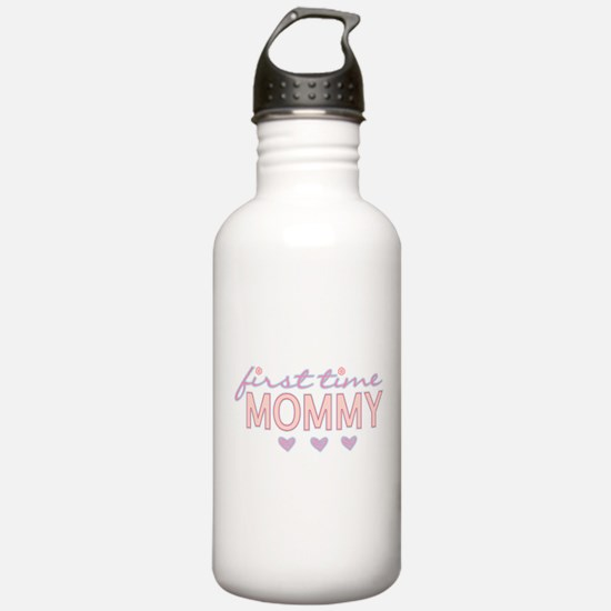 Girly First Time Mommy Water Bottle