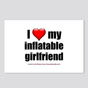 """Love My Inflatable Girlfriend"" Postcards (Package"