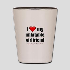 """Love My Inflatable Girlfriend"" Shot Glass"