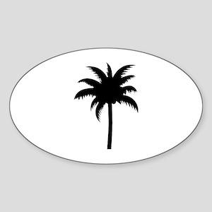 Palm tree Sticker (Oval)