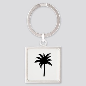 Palm tree Square Keychain