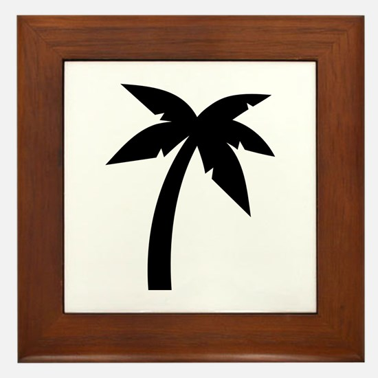 Palm icon symbol Framed Tile