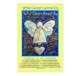 Blue & Gold Cancer Angel Postcards (Package of 8)