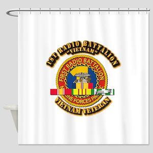 USMC - 1st Radio Battalion - w VN SVC Ribbon Showe