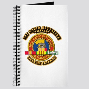 USMC - 1st Radio Battalion - w VN SVC Ribbon Journ
