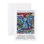 Colorful Cancer Angel Greeting Cards (Pk of 20)