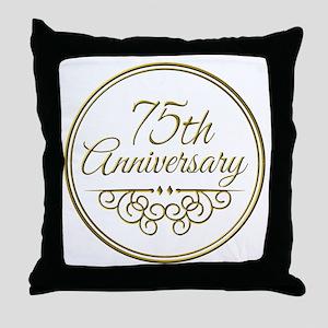 75th Anniversary Throw Pillow