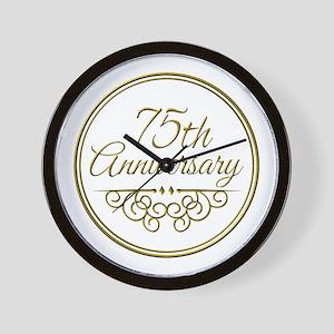 75th Anniversary Wall Clock