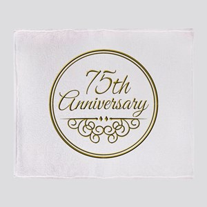 75th Anniversary Throw Blanket