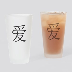 Love in Chinese characters Drinking Glass