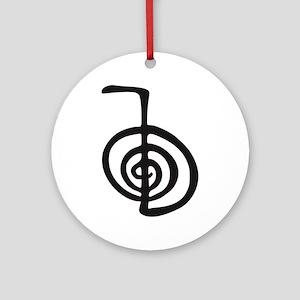 Reiki Power Symbol - cho ku rei Ornament (Round)