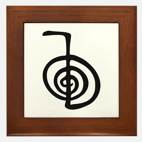 Reiki Power Symbol - cho ku rei Framed Tile