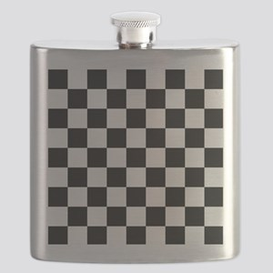 Black and white Check Flask
