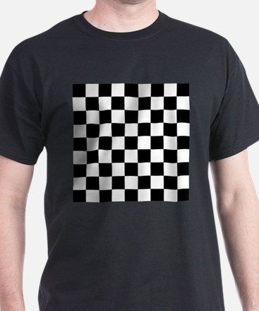 Black and white Check T-Shirt