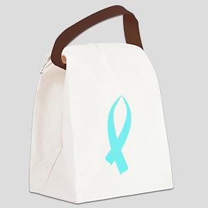 Awareness Ribbon (Light Blue) Canvas Lunch Bag