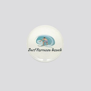 Surf Hermosa Beach, Californi Mini Button