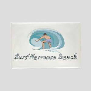 Surf Hermosa Beach, Californi Rectangle Magnet