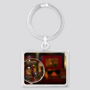 Magnifying Glass Landscape Keychain
