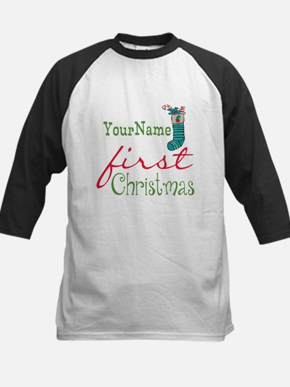 Personalized Name First Christmas Kids Baseball Je
