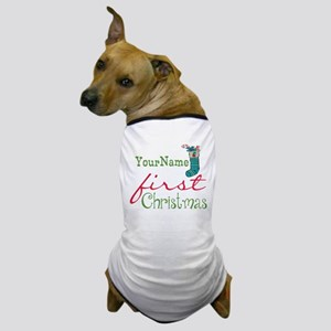 Personalized Name First Christmas Dog T-Shirt