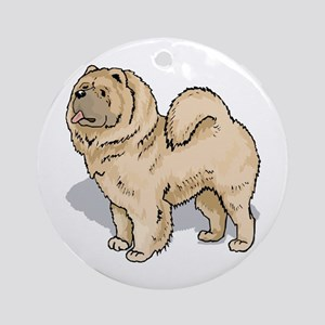 Chow Chow Ornament (Round)