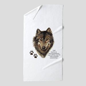 Wolf Totem Animal Guide Watercolor Nature Art Beac