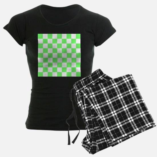 Neon Green and white Check Pajamas