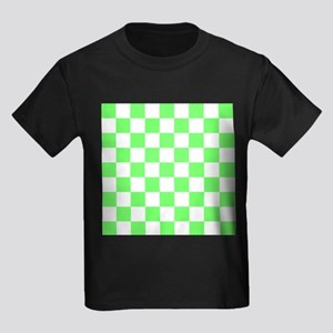 Neon Green and white Check T-Shirt