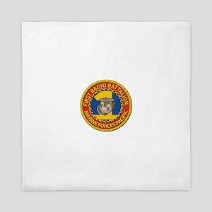 USMC - 1st Radio Battalion Queen Duvet