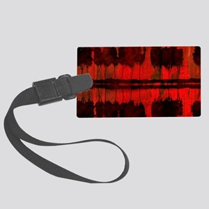 Trees Reflected in Lake at Sunse Large Luggage Tag