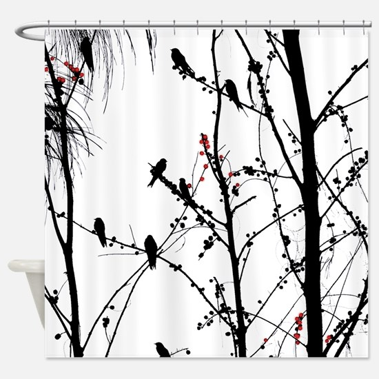 Birds on a tree Shower Curtain